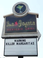 killer margarita sign