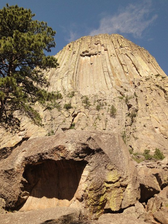 Wooden Plank Ladder Devils Tower ~ The biggest ball of string devils tower wyoming