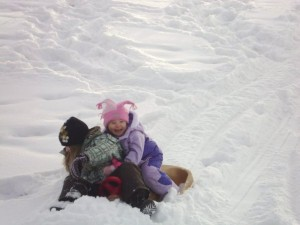 kids' sledding party 1