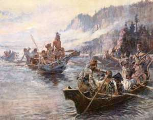 Lewis and Clark on the Lower Columbia by Charles Russell (1905)