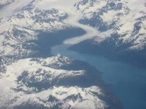 Birds eye of Glacier