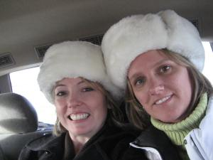 Cute fuzzy hats