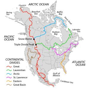 North America Continental Divides