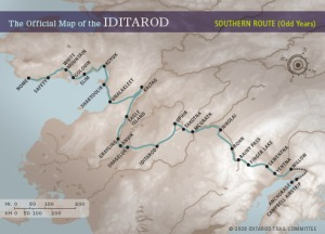 Southern Route, as per Iditarod.com