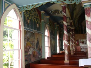 Painted Church, inside